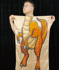 Character Silk (Dinosaur) 35 X 43  by JL Magic - Trick