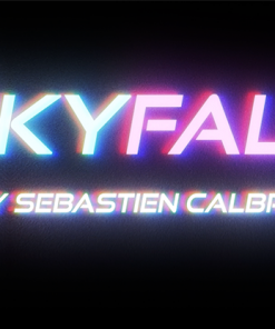 SKY FALL  BLUE  by Sebastien Calbry - Trick