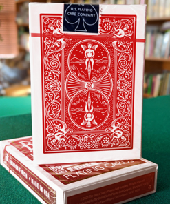 Experts Thin Crushed Rider Back Back (Red) Playing Cards