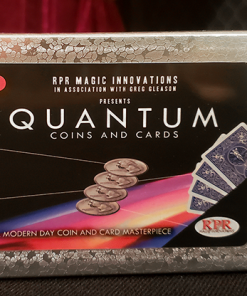 Quantum Coins (UK 10 Pence Blue Card) Gimmicks and Online Instructions by Greg Gleason and RPR Magic Innovations