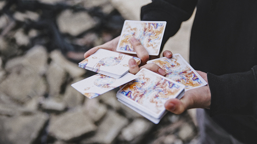Fluid Art Orange (Cardistry Edition) Playing Cards