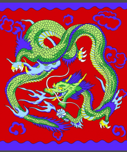 "Rice Symphony Silk 36"" (Red Dragon) by Silk King Studios - Trick"