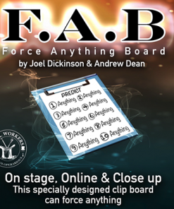 FAB BOARD A4/BLUE (Gimmicks and Online Instruction) by Joel Dickinson & Andrew Dean - Trick