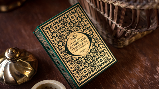 Gilded Limited Edition 2020 National Playing Card Deck Pandora's Box (Green & Gold) (Disease) by Seasons Playing Card