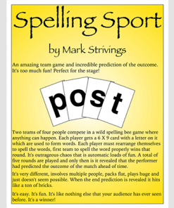 SPELLING SPORT STAGE by Mark Strivings - Trick