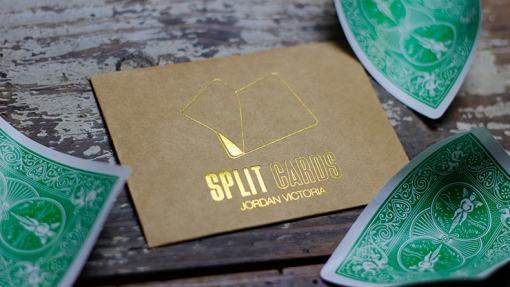 COLORED Split Cards 10 ct. (Green) by PCTC - Trick