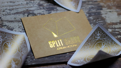 COLORED Split Cards 10 ct. (Gold) by PCTC - Trick