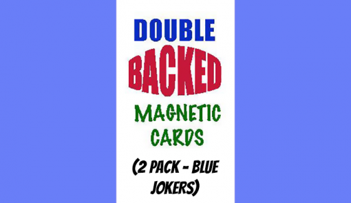 Magnetic Cards (2 pack/Blue Jokers) by Chazpro Magic - Trick